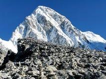 Kala Patthar-observatiedek voor Everest Stock Afbeelding