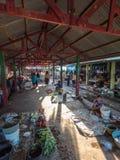 Kalabahi food market. Subsistence farmers selling excess crops at Kalabahi market. Alor Archipelago, Lesser Sunda Islands, Indonesia Stock Image
