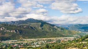 Kalabaka Mountain View In Greece stock photo