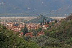 Kalabaka town in Greece Stock Photography