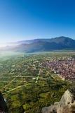 The Kalabaka town in Meteora mountains, Greece Stock Photo