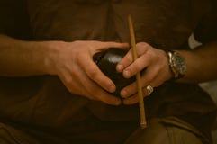 Kalabas в руках Стоковое Изображение