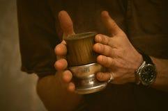 Kalabas в руках Стоковая Фотография