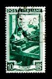 Kalabrien - der Rahmen, provinzielles Besetzungen serie, circa 1950 Lizenzfreies Stockfoto