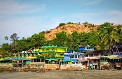 Arambol Beach in Goa, India. A view of Arambol Beach in Goa, India. There are some good places to stay here and relax Stock Photography