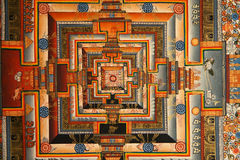 Kalachakra Mandala Drawing. Kalachakra, a Sanskrit term used in Tantric Buddhism meaning time wheel or time cycles Royalty Free Stock Photography