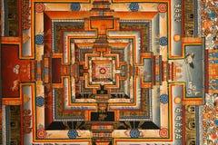 Kalachakra Mandalateckning Royaltyfri Fotografi