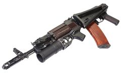 Kalachnikov AK 74 avec le lance-grenades GP-25 Photos libres de droits
