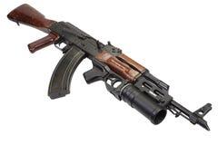 Kalachnikov avec le lance-grenades GP-25 Image libre de droits