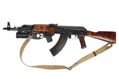 Kalachnikov avec le lance-grenades GP-25 Photo stock