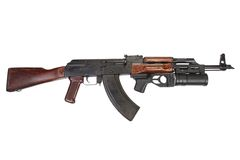 Kalachnikov avec le lance-grenades GP-25 Images libres de droits