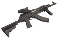 Kalachnikov moderne AK47 avec des accessoires Photos stock