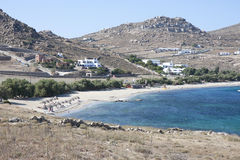 Kalafatis Beach in Mykonos island, Stock Photo