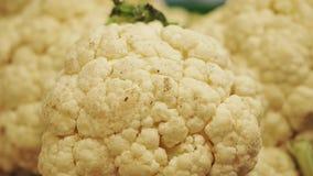 Kalafior, w górę odpierających zdrowych warzyw na zdjęcie wideo