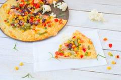 Kalafiorowa pizza zdjęcia royalty free