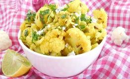 Kalafiorowy curry Zdjęcia Stock