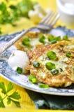 Kalafioru i brokułów fritters z serem Zdjęcia Stock