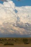 Kalahari cumulus clouds Stock Image