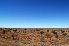 Kalahari Desert Landscape. A view of the Kalahari Desert, Botswana, Southern Africa Royalty Free Stock Photos