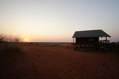 Kalahari-Hütte Lizenzfreie Stockfotografie