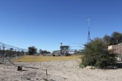 Kalahari Living III. A windmill provides water in the Kalahari Stock Images