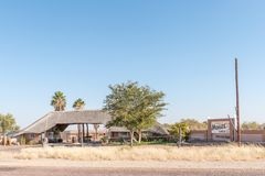Kalahari Monate Lodge on the R360-road north of Upington Stock Image