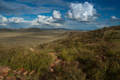 Kalahari mountains and valley. The Koranna mountains are an isolated range in the Kalahari region Royalty Free Stock Images