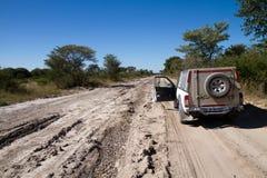 Kalahari road in africa Royalty Free Stock Images
