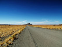 Kalahari-Wüstenstraße Stockbilder