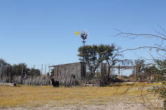 Kalahari Windmill Stock Image