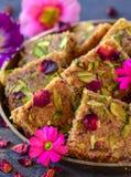 Kalakand or milk cake - Indian milk based sweets royalty free stock image