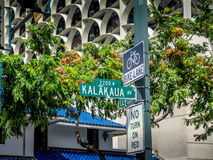 Kalakaua Avenue road sign Royalty Free Stock Photos