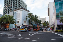 Kalakaua shopping district Stock Images