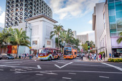 Kalakaua shopping district Stock Photo