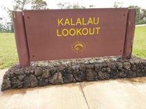 Kalalau-Ausblick stockfotos