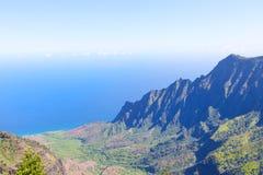 Kalalau canyon at kauai Royalty Free Stock Photography