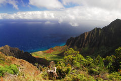 Kalalau lookout in Hawaii Royalty Free Stock Images