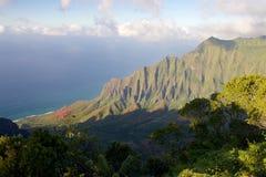 Kalalau lookout. On the Hawaiian island of Kauai Stock Photos