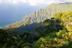 Kalalau lookout. On the Hawaiian island of Kauai Royalty Free Stock Image