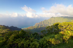 Kalalau lookout. On the Hawaiian island of Kauai Royalty Free Stock Photos