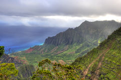 Kalalau Lookout, Kauai, HI. Royalty Free Stock Photos
