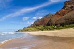 Kalalau Strand stockbilder