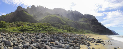 Kalalau strand arkivfoton