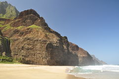 Kalalau Strand, Kauai, Hawaii lizenzfreie stockbilder