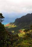 Kalalau Tal übersehen, Kauai (hawaiische Inseln) Stockbilder
