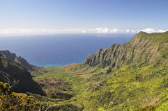 Kalalau Tal, Kauai Hawaii lizenzfreies stockbild