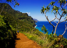 Kalalau trail, Kauai Stock Image