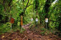 Kalalau trail in Kauai, Hawaii Royalty Free Stock Photo
