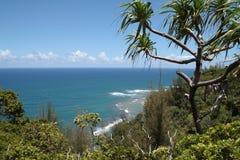 Kalalau Trail. At the Nā Pali Coast, Kauai, Hawaii Stock Photos