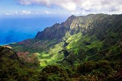 Kalalau Valley, Kauai. Beautiful day to Kauai, Hawaii Royalty Free Stock Photos